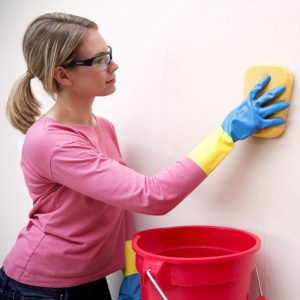 clean painted walls